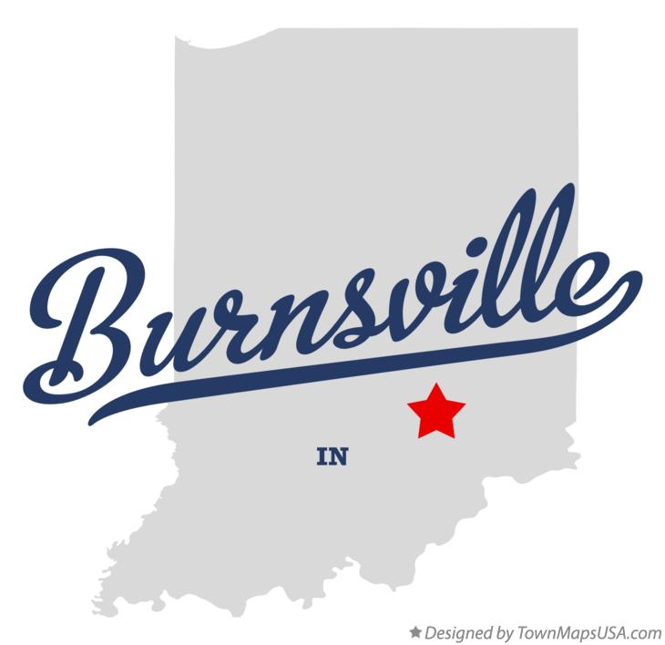 Map of Burnsville Indiana IN
