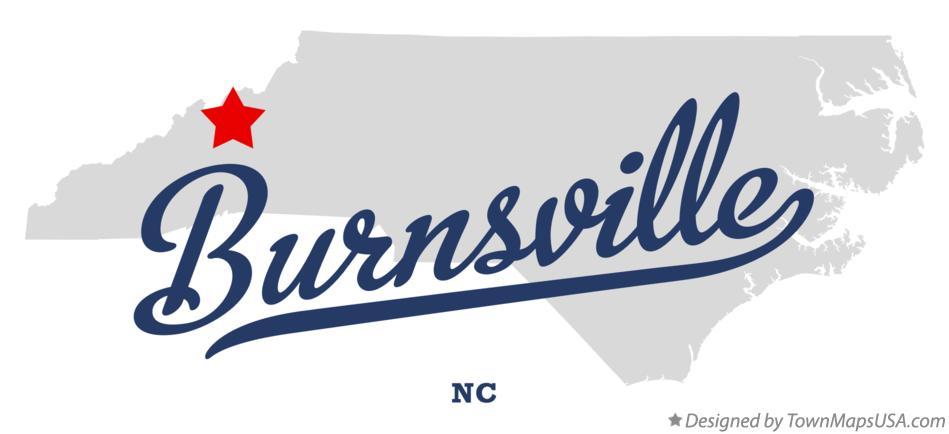 Map Of Burnsville Yancey County Nc North Carolina
