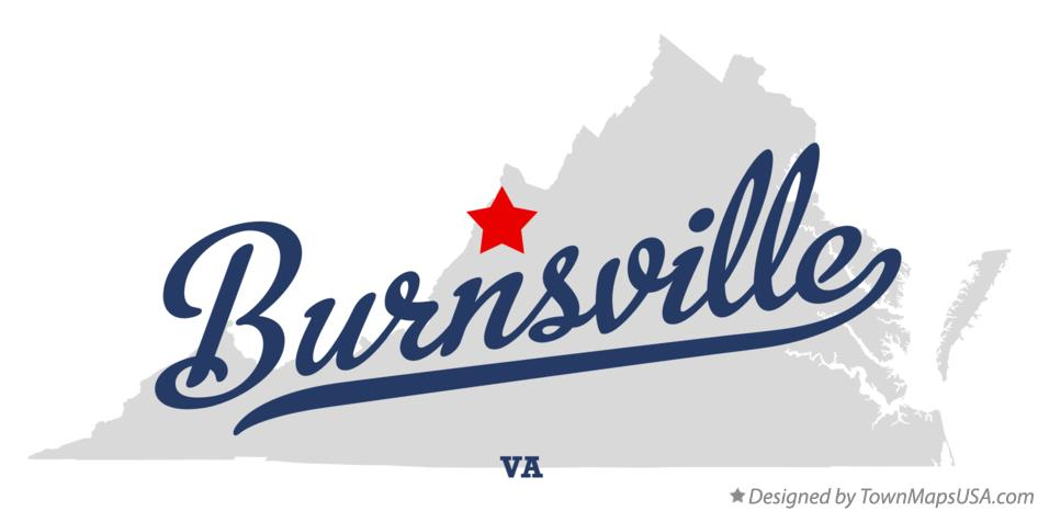 Map of Burnsville Virginia VA