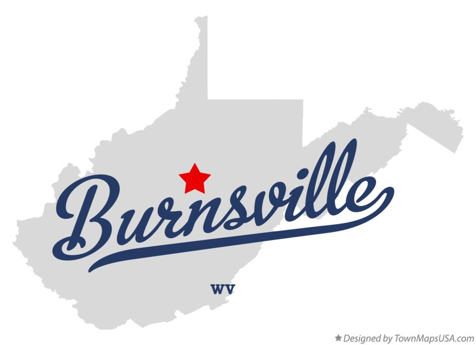 Map of Burnsville West Virginia WV