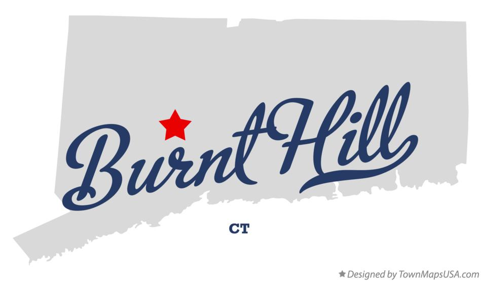 Map of Burnt Hill Connecticut CT