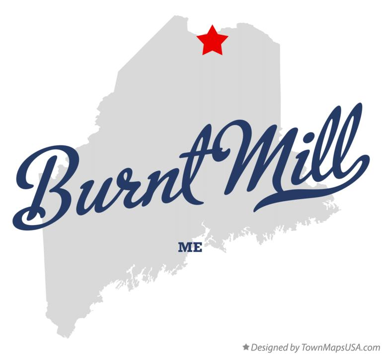 Map of Burnt Mill Maine ME
