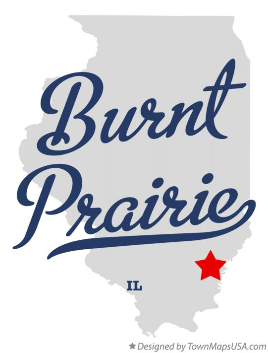 Map of Burnt Prairie Illinois IL