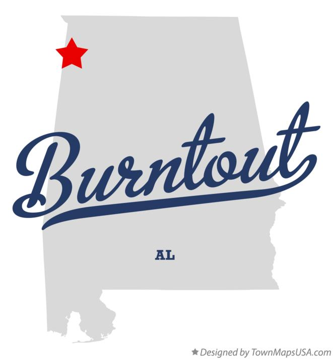 Map of Burntout Alabama AL