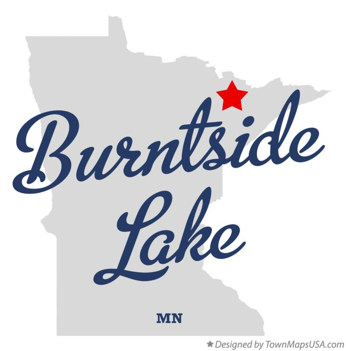 Map of Burntside Lake Minnesota MN