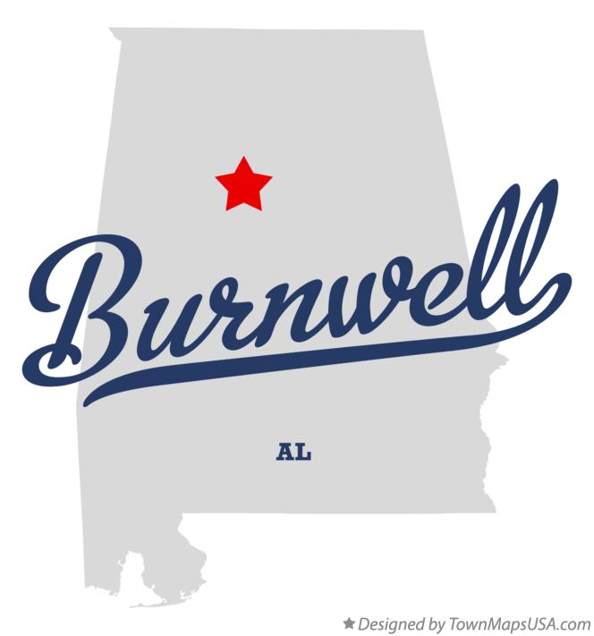 Map of Burnwell Alabama AL