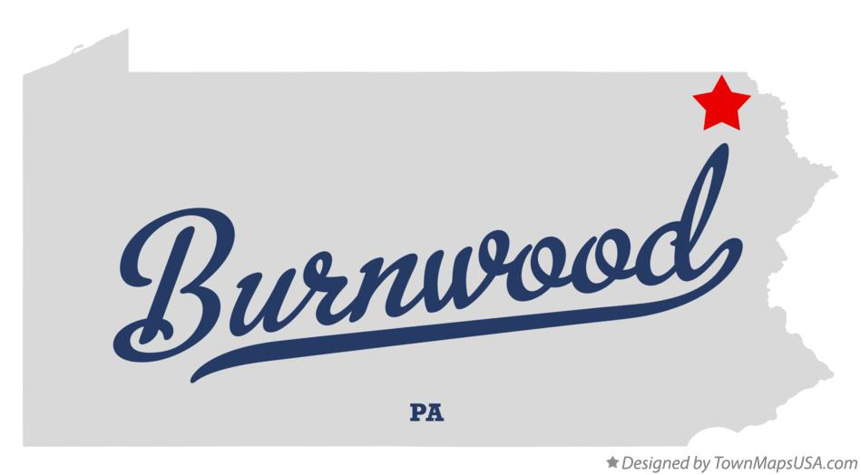Map of Burnwood Pennsylvania PA