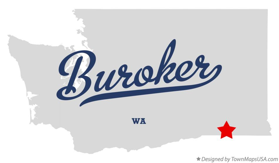 Map of Buroker Washington WA