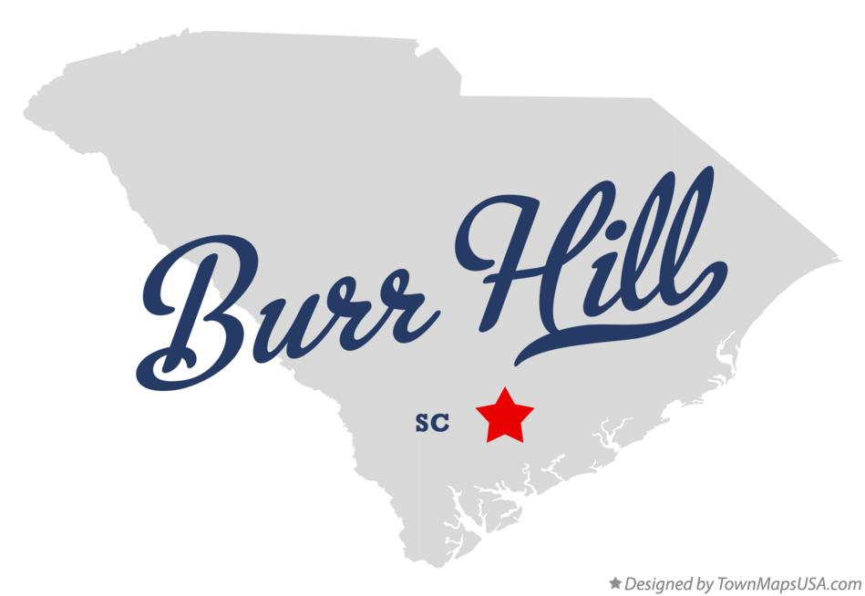 Map of Burr Hill South Carolina SC