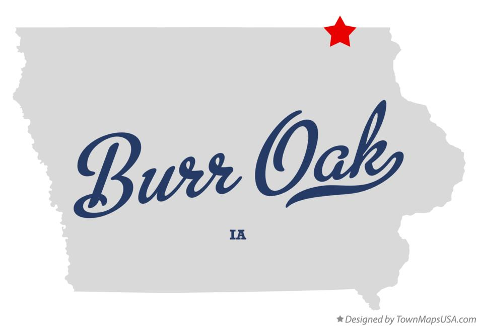 Map of Burr Oak Iowa IA