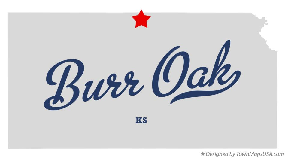 Map of Burr Oak Kansas KS