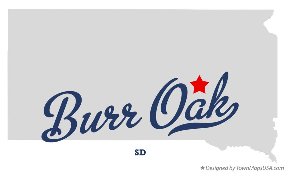 Map of Burr Oak South Dakota SD