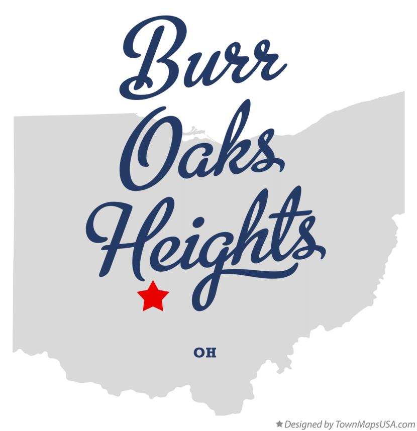 Map of Burr Oaks Heights Ohio OH