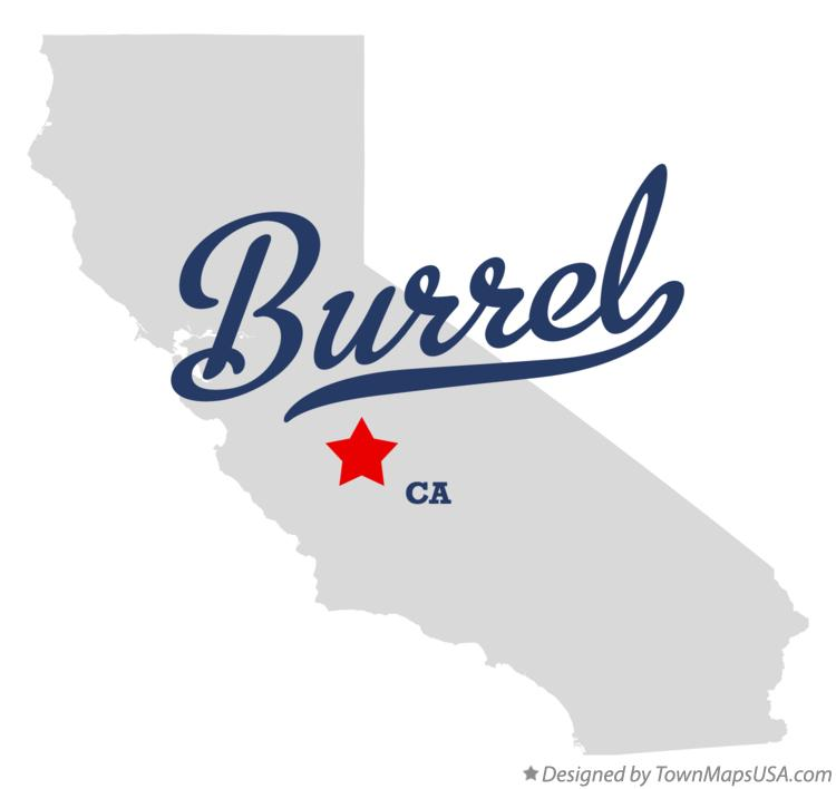Map of Burrel California CA