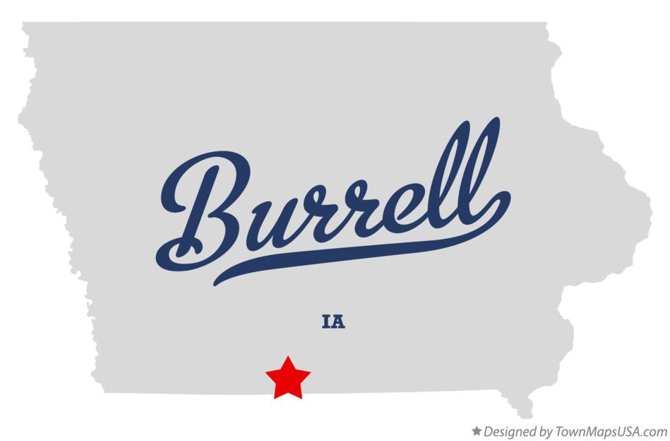 Map of Burrell Iowa IA