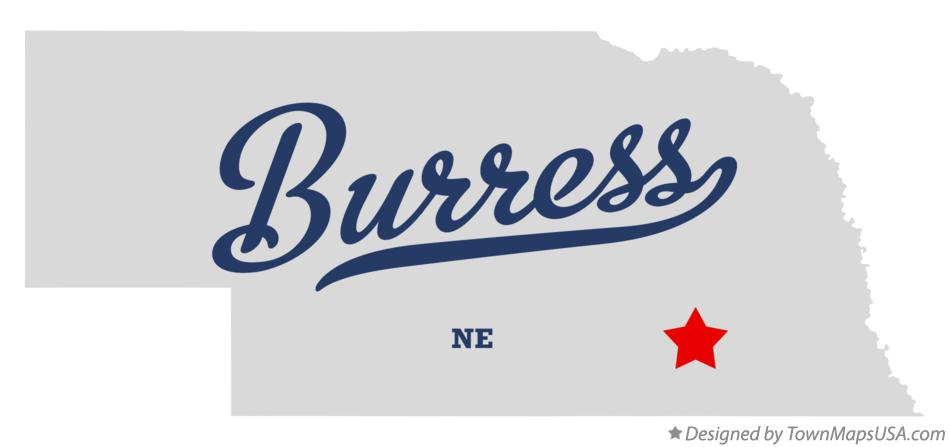 Map of Burress Nebraska NE