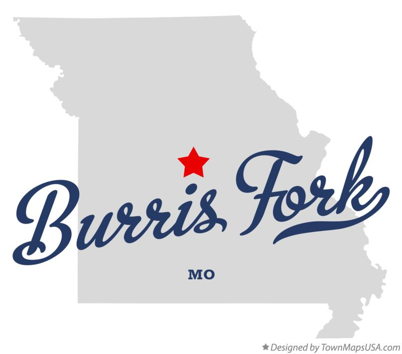 Map of Burris Fork Missouri MO