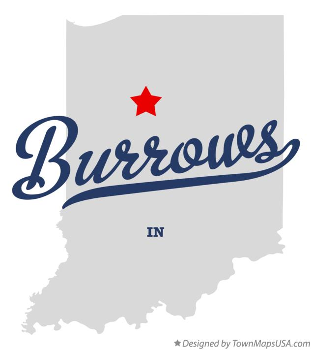 Map of Burrows Indiana IN