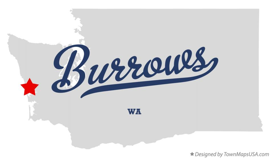Map of Burrows Washington WA