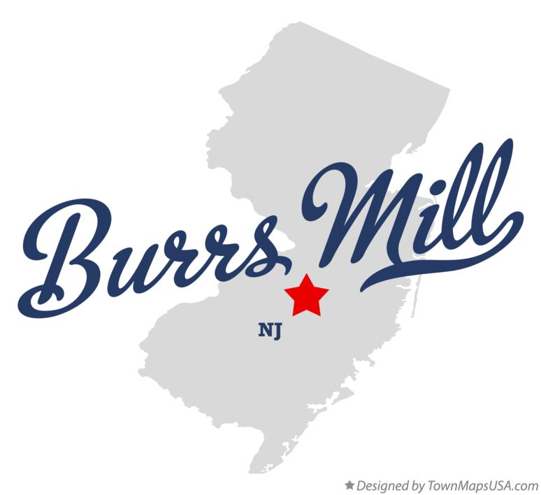 Map of Burrs Mill New Jersey NJ