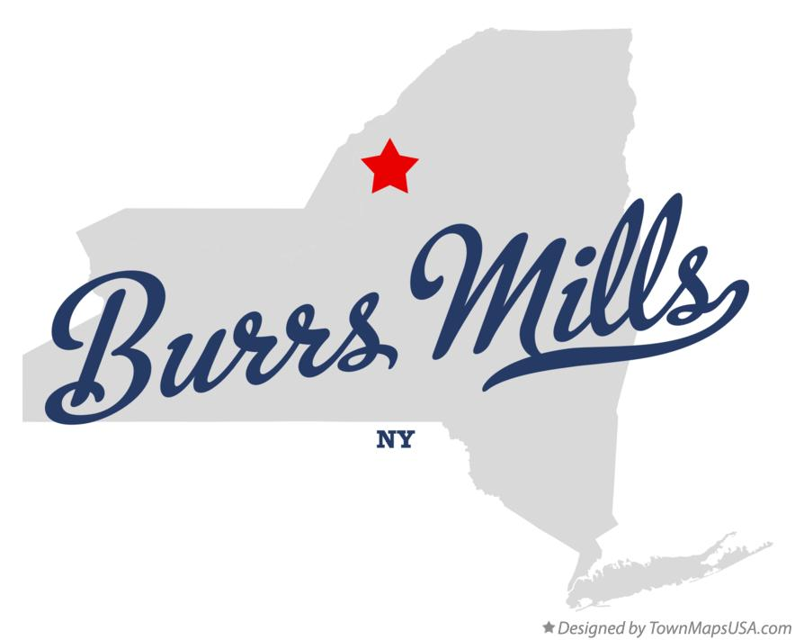 Map of Burrs Mills New York NY