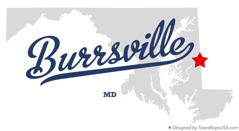 Map of Burrsville Maryland MD