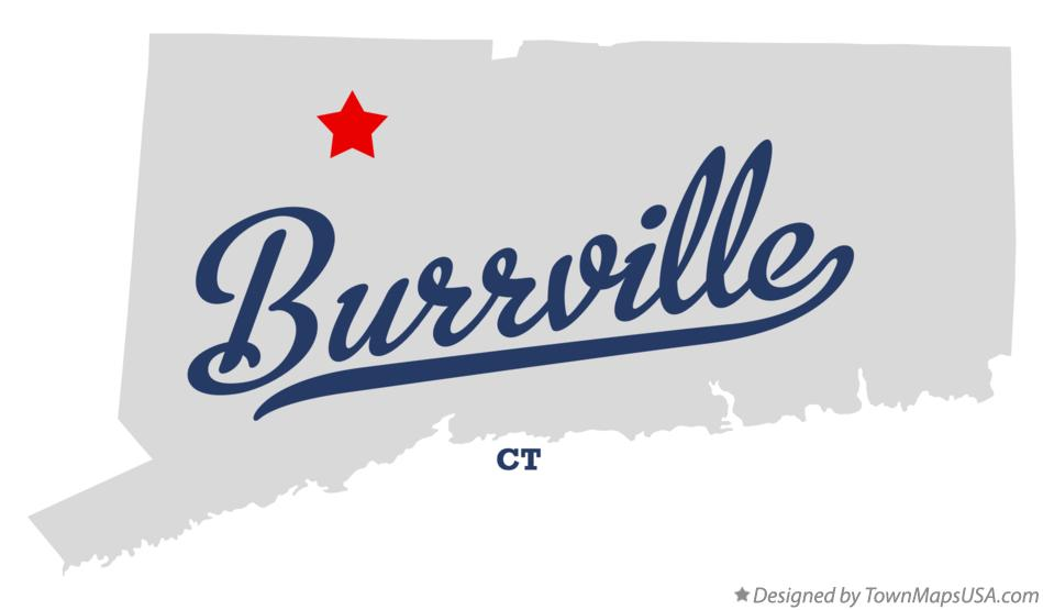 Map of Burrville Connecticut CT