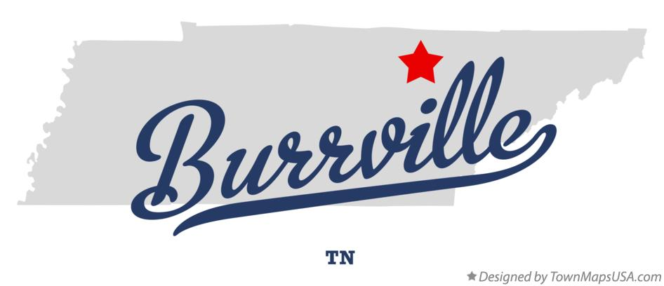 Map of Burrville Tennessee TN