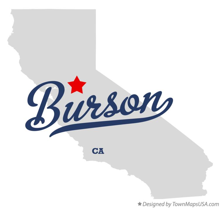 Map of Burson California CA
