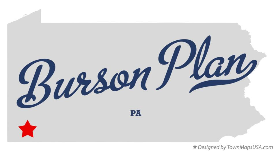 Map of Burson Plan Pennsylvania PA