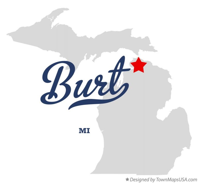 Map of Burt Michigan MI