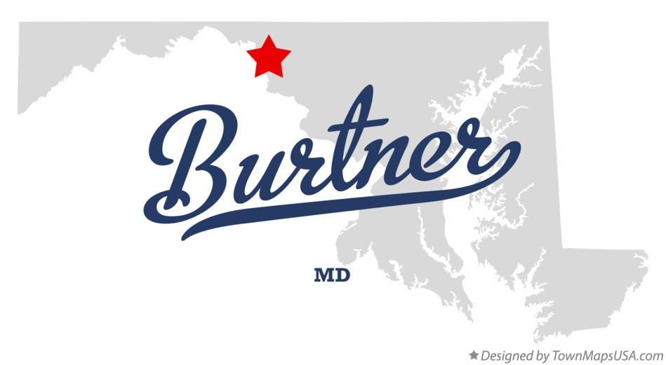 Map of Burtner Maryland MD