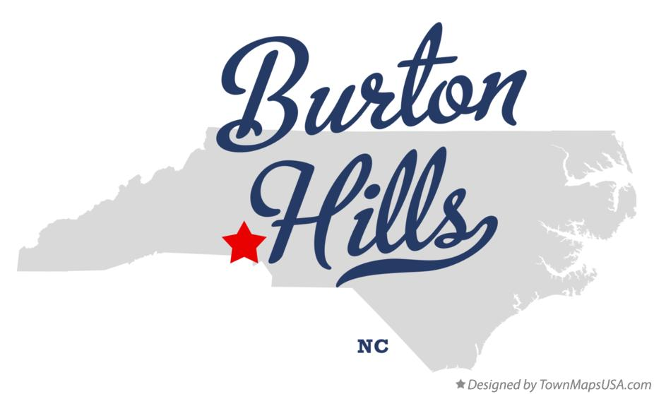 Map of Burton Hills North Carolina NC