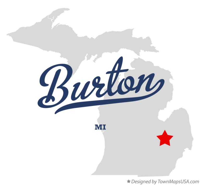 Map of Burton Michigan MI