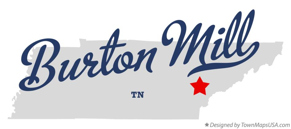 Map of Burton Mill Tennessee TN