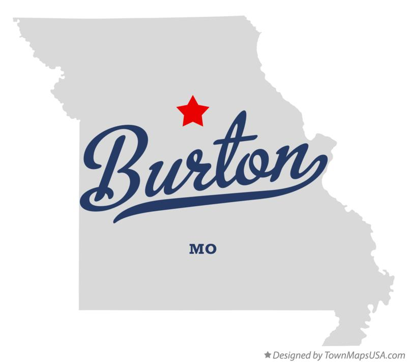 Map of Burton Missouri MO