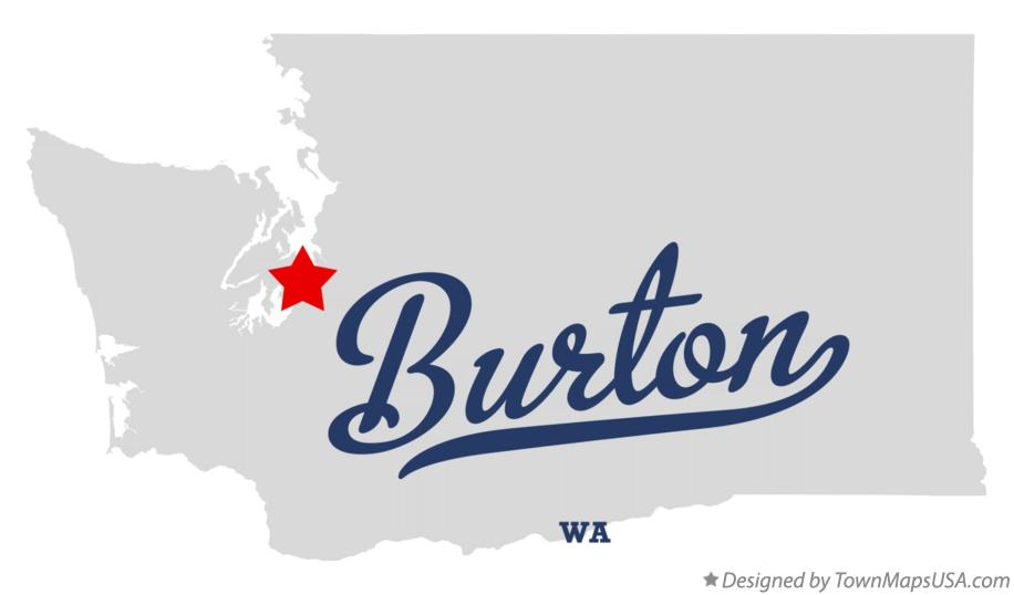 Map of Burton Washington WA