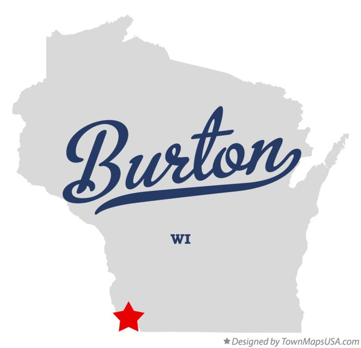 Map of Burton Wisconsin WI