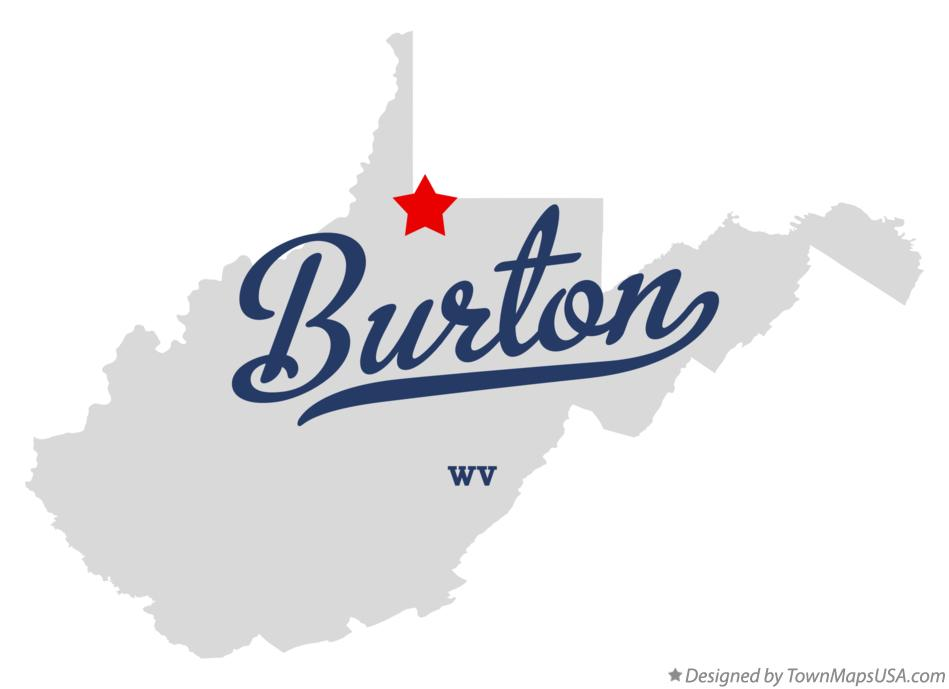 Map of Burton West Virginia WV