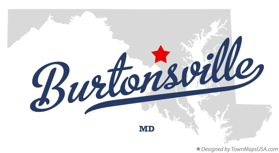 Map of Burtonsville Maryland MD