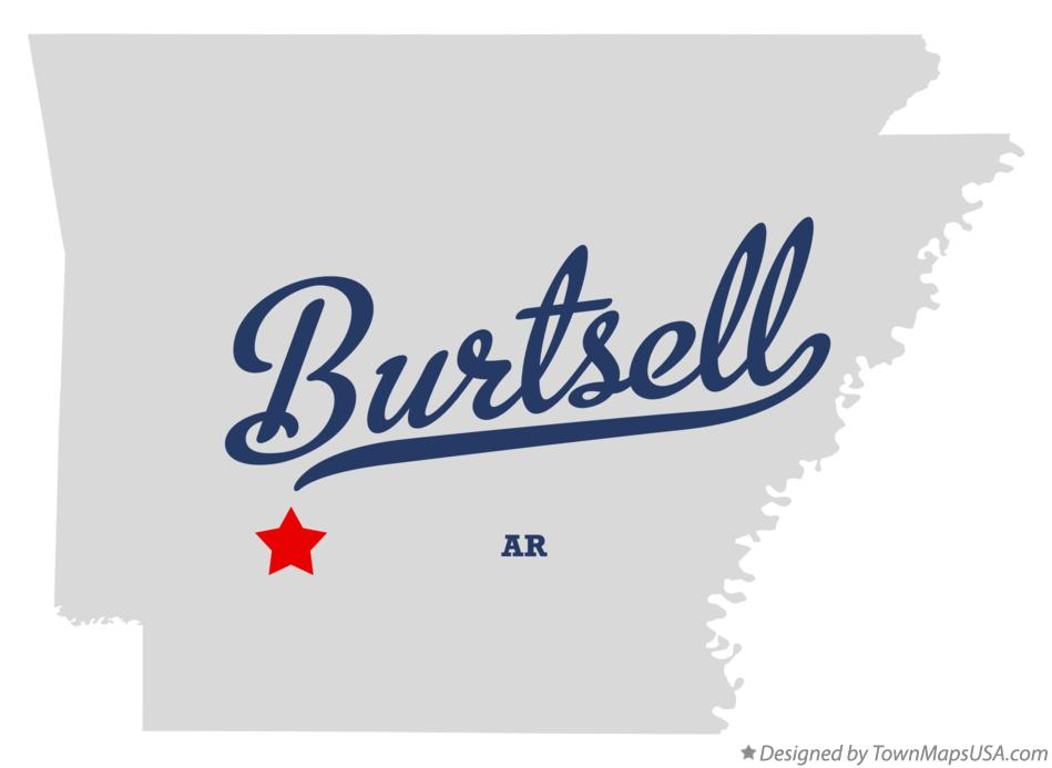 Map of Burtsell Arkansas AR