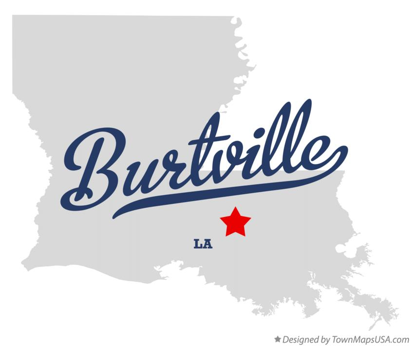 Map of Burtville Louisiana LA