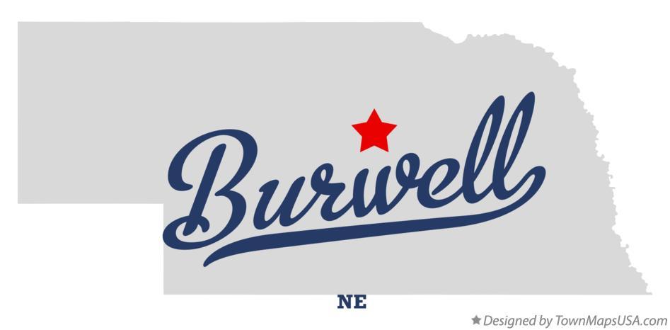 Burwell Nebraska Map.Map Of Burwell Ne Nebraska
