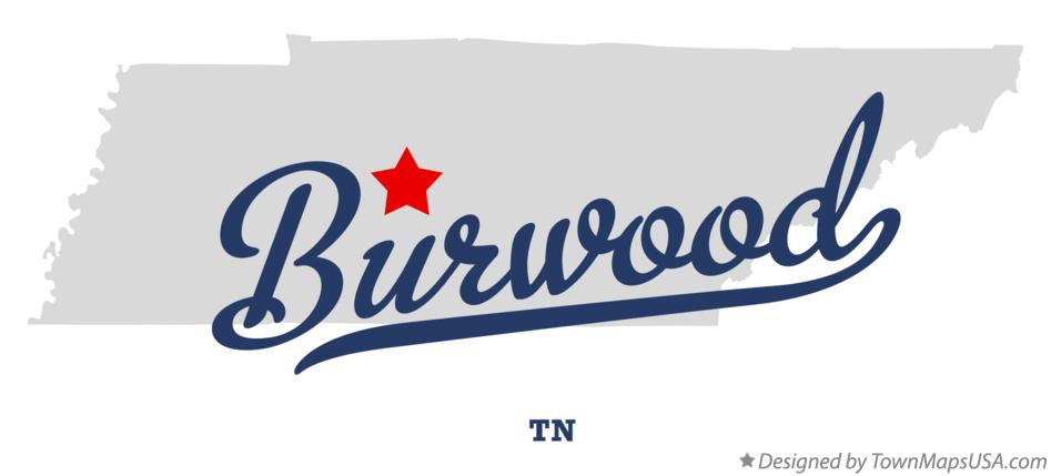 Map of Burwood Tennessee TN