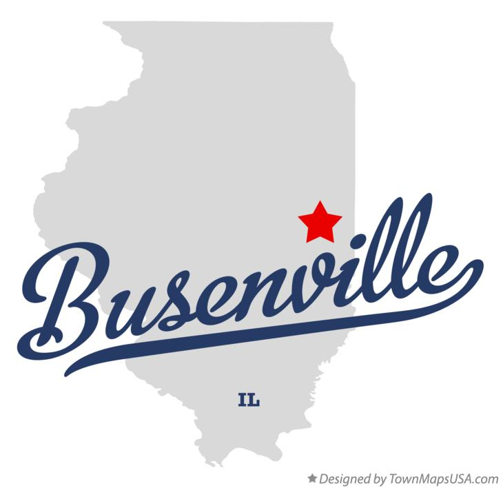 Map of Busenville Illinois IL