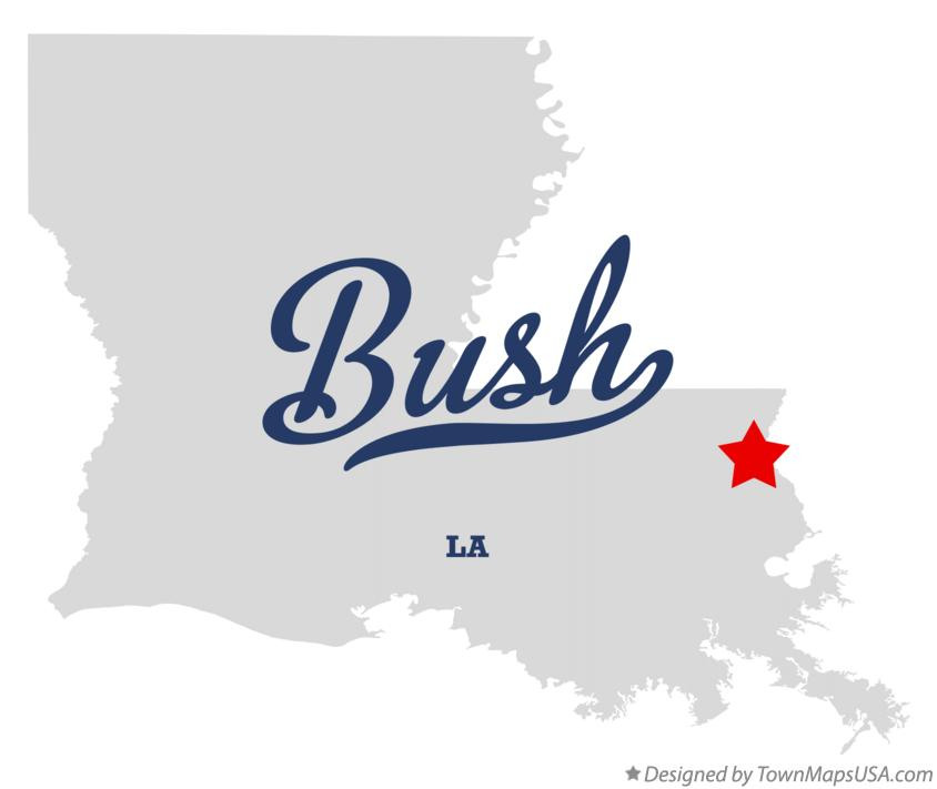 Map of Bush Louisiana LA