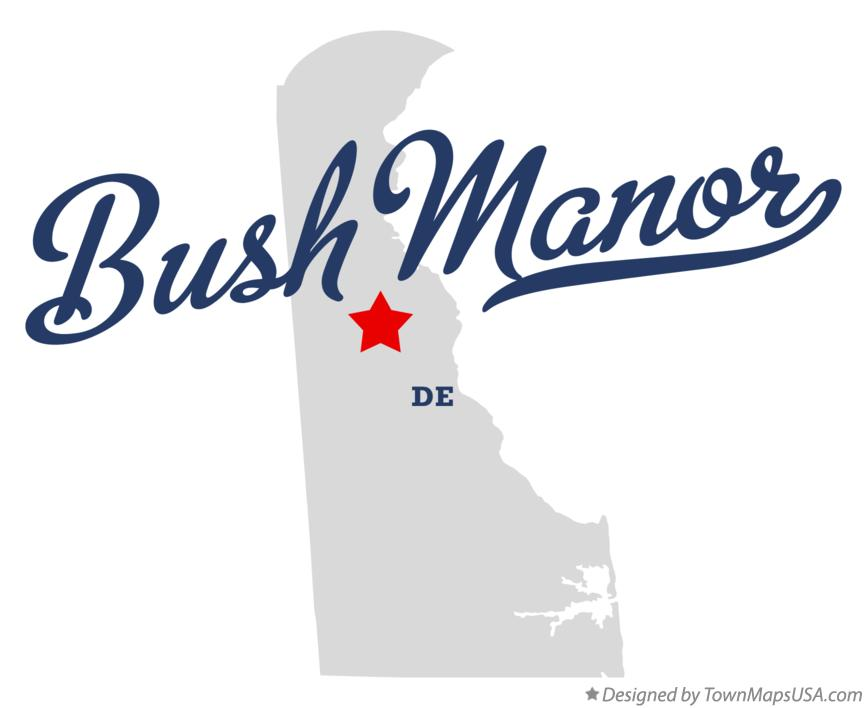 Map of Bush Manor Delaware DE