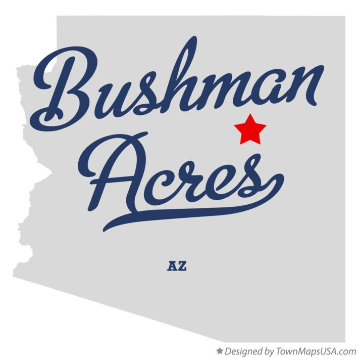 Map of Bushman Acres Arizona AZ