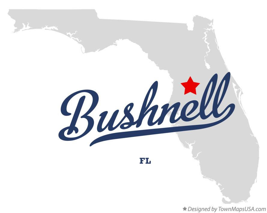 Bushnell Florida Map.Map Of Bushnell Fl Florida