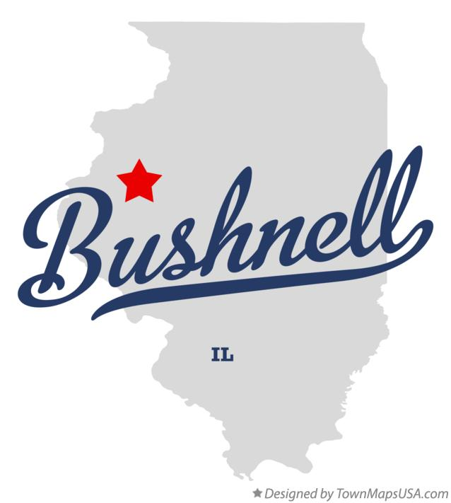 Map of Bushnell Illinois IL